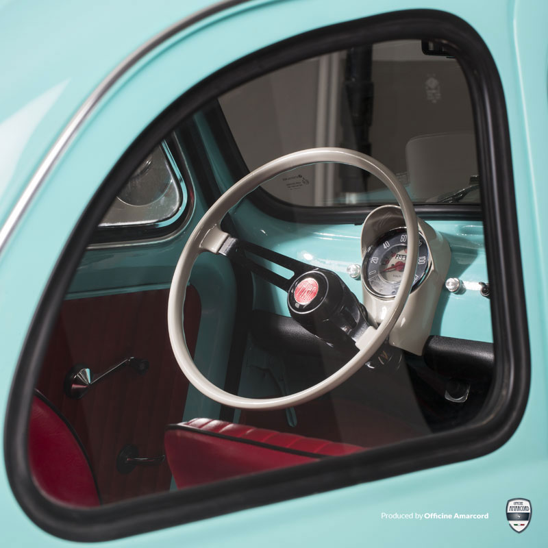 La cura del dettaglio della Fiat 500 F